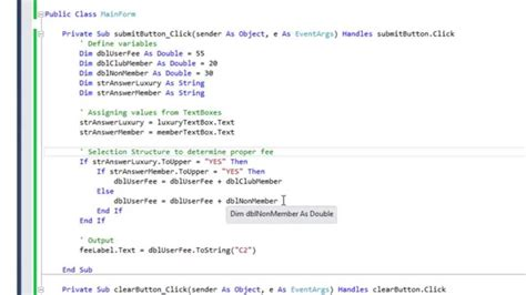 nested if statement in visual basic