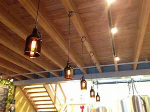 Outdoor Hanging Light Fixtures Growler Lights With Images Basement Decor Tap Room