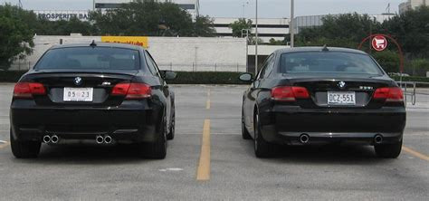 Difference Between 328i And 335i Bmw by M3 Vs 328i And 335i Side By Side Photo Comparo