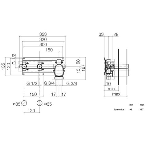 dornbracht tara montageanleitung dornbracht grundk 246 rper xtool thermostatmodul 2 ventilen 3552997090 megabad