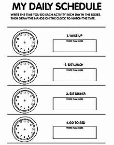 My Daily Schedule Coloring Page