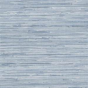 Nautical Seaside Blue Faux Grasscloth Wallpaper
