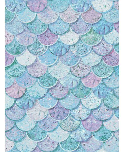 mermazing mermaid scales glitter wallpaper ice blue aqua