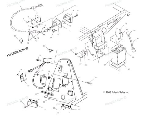 Polari Trailblazer 250 Part Diagram by Polaris Trail 325 Wiring Diagram Wiring Diagram