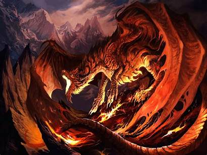 Dragon Fantasy Fire Wallpapers Backgrounds Wings Dragons