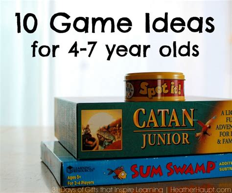 games for 4 year olds christmas gifts 10 ideas for 4 7 year olds haupt