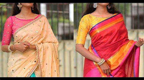 Boat Neck Blouse With Saree by 5 Blouse Designs To Match With Your Silk Saree