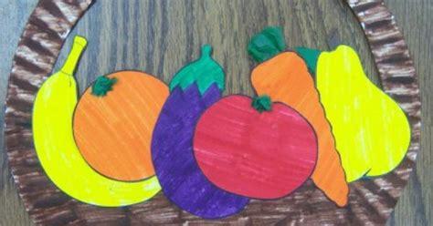 paper plate basket  fruit  vegetables