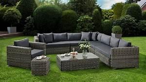 Polyrattan Lounge Sessel : baidani loungeset celebration 25 tlg ecklounge sessel tisch beistellstisch polyrattan ~ Orissabook.com Haus und Dekorationen