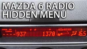 Mazda Radio Hidden Menu  Sound System Diagnostic Service
