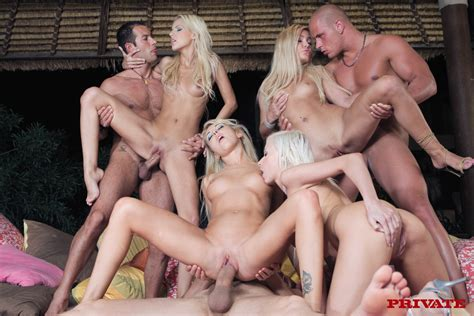 Incredible Group Sex Picture With Amazing Blonde Liquid