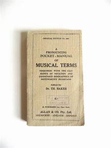 Musical Terms Pocket Manual Of Musical Terms Dr Theodore