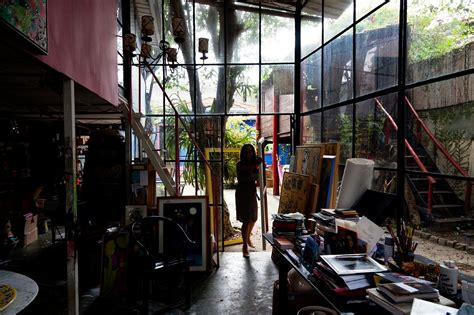 artist home studio moon to moon the gloriously bohemian home of artist isabelle tuchband