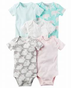 5-Pack Short-Sleeve Original Bodysuits | Babies, Girls and ...