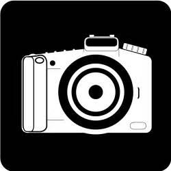 Camera Clip Art Black and White