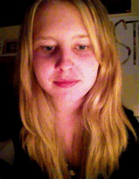 blonde eyes face gif girl animated gif