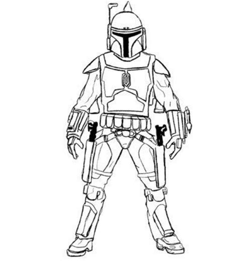 Boba Fett Coloring Pages Getcoloringpagescom