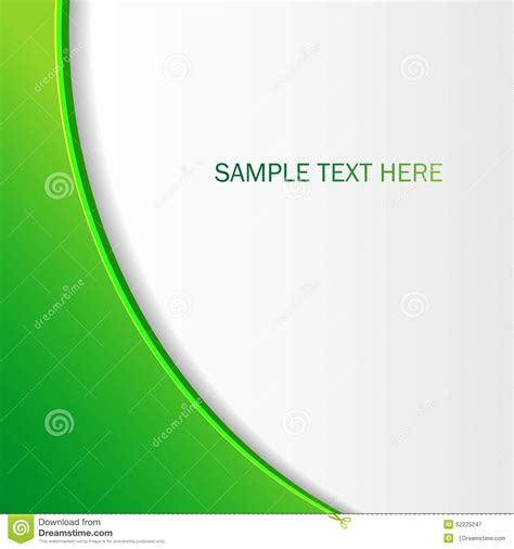 abstract green background brochure   design