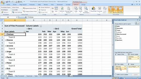 excel row labels