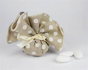 Sacchetto Portaconfetti Pois Linea MANU Per Matrimonio O