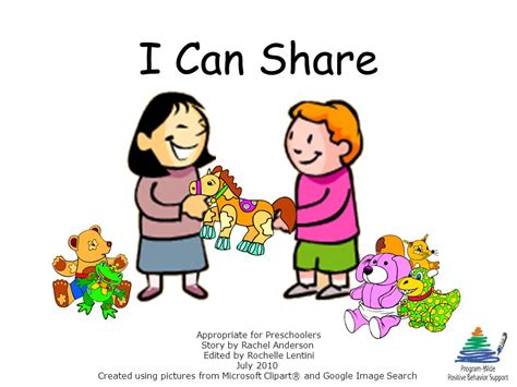 i can appropriate for preschoolers story by 206 | I Can Share Appropriate for Preschoolers Story by Rachel Anderson