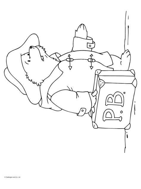 Kleurplaat Paddington by Kleurplaat Paddington Met Koffer Kleurplaten Nl