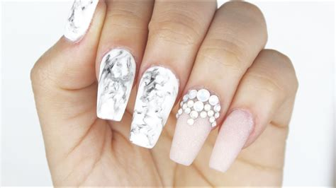 gel marble nails youtube