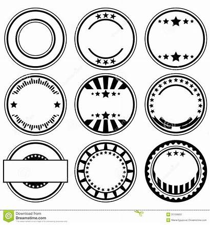 Vector Stamps Rubber Clipart Stamp Empty Circle