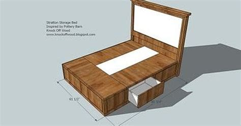 Diy Queen Size Storage Bed... Includes Cutting Plans & Directions For Frame Black Twin Bed With Drawers Underneath Sweater Drying Rack Drawer Double Beds Uk Hemnes Dresser 8 Review Room Essentials 4 Chest Instructions Plans For Queen Platform Storage And Headboard End Tables