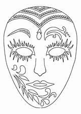 Coloring Mardi Mask Gras Decoplage Adult Printable Valentines sketch template