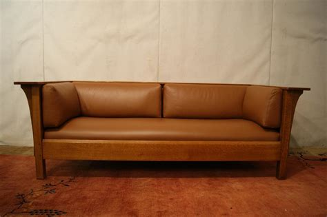 stickley leather sofa price mission quot stickley quot leather sofa
