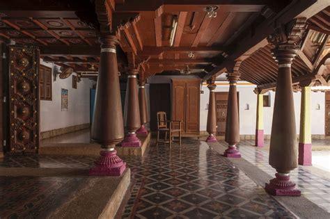 thinnai porch overlooking muttram courtyard traditional chettinad house tamilnadu