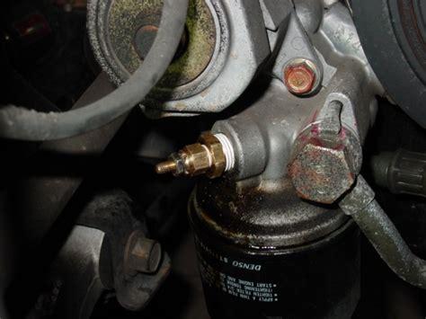 install oil pressure  temperature sensors