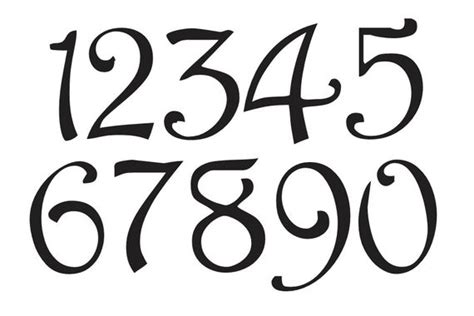 number stencil  harrington font numbers    etsy