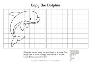dolphin writing page