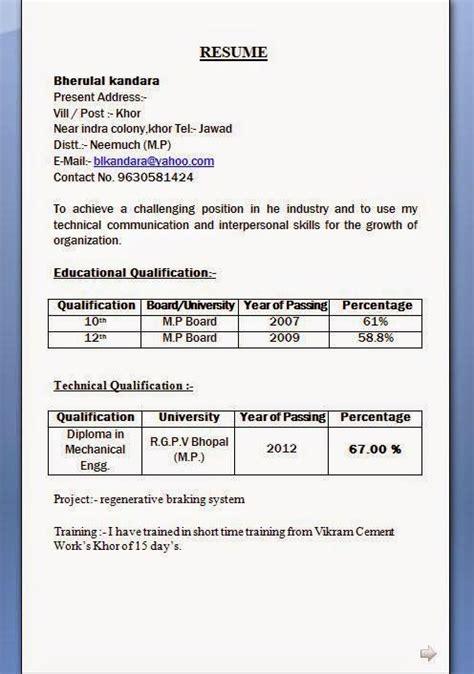 resume format  pass format resume resumeformat