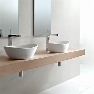 Une vasque pour une salle de bain design plans pluriel for Salle de bain design avec vasque à poser travertin