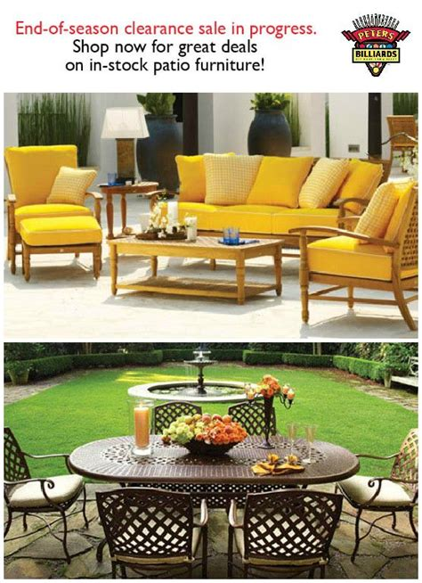 pin by peters billiards on patio furniture