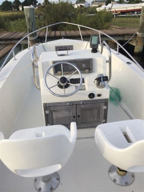 hydra sport console center foot fishing boat 1982