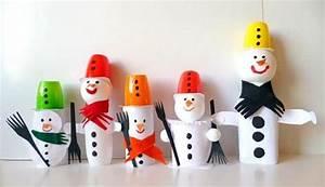 Basteln Winter Kinder : schneemann aus fruchtzwergbecher weihnachten basteln meine enkel und ich ~ Frokenaadalensverden.com Haus und Dekorationen