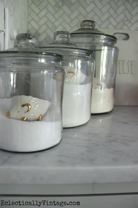 clear canisters kitchen summer home tour decorating ideas