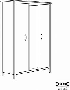 Brusali Ikea Schrank : kleiderschrank mit spiegel von ikea brusali wei 190 x 130 x 55 cm ikea brusali kleiderschrank 7 ~ Orissabook.com Haus und Dekorationen
