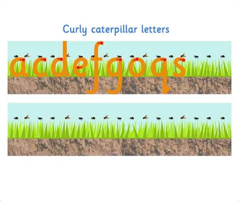 curly caterpillar letter formation  early years