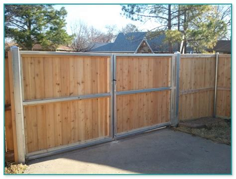 Galvanized Steel Fence Posts In Existing Concrete