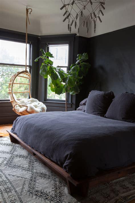 black painted bedroom paint a black wall in the bedroom 10867 | jordanferneyhometourbedroom