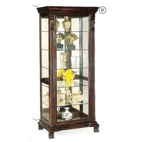 cherry wood curio cabinet buy low price corner style glass solid wood cherry finish