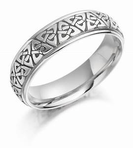 irish wedding ring mens gold trinity knot celtic wedding With mens irish wedding ring