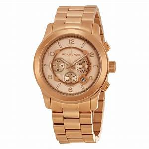 Michael Kors Runway Chronograph Rose Gold-tone Men's Watch ...