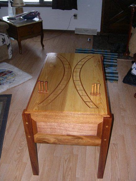 cribbage board table woodworking tools storage