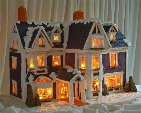 Detailed Instructions For Making A Lighted Gingerbread